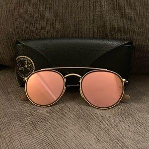 Ray-Ban Round Pink Mirrored Sunglasses